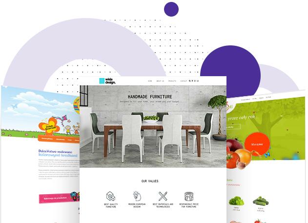 Unikatowy projekt graficzny strony