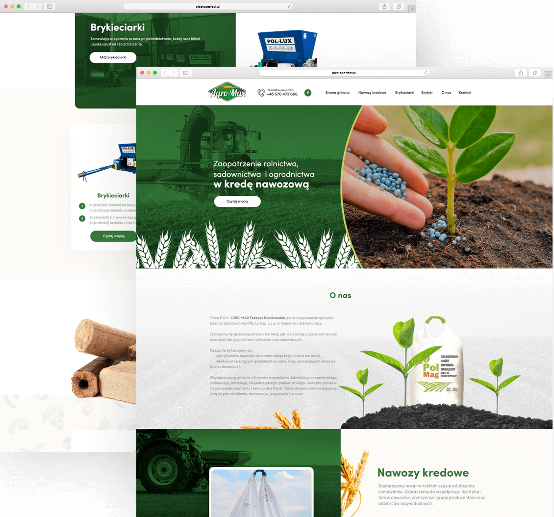 agro-max, strona internetowa