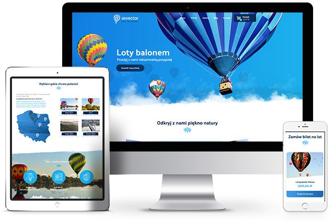 podróż balonem, strony internetowe poznań, asvector