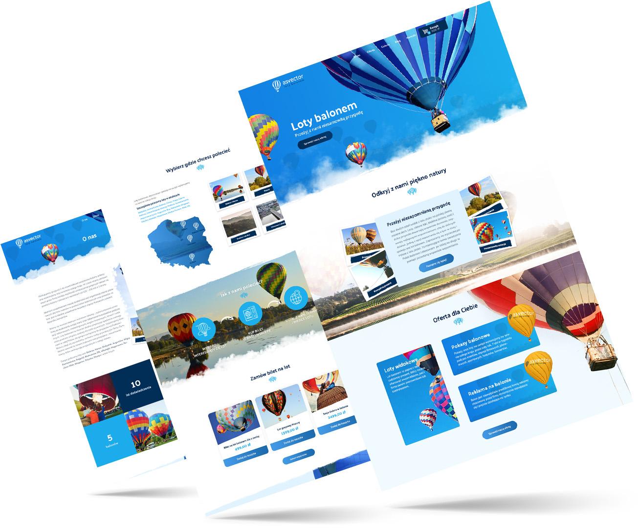 balony, lot, strony internetowe poznań