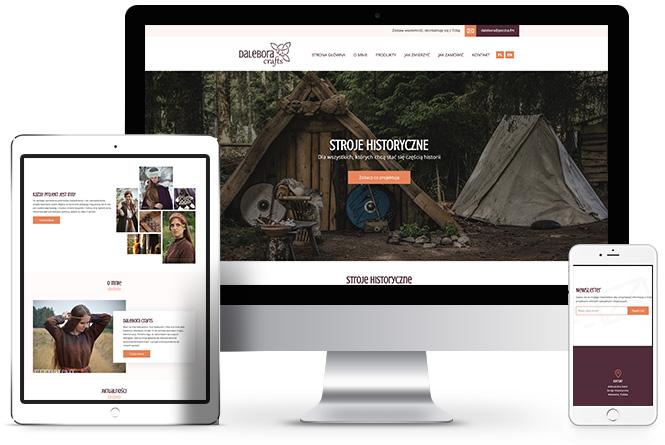 pracownia krawiecka, projekt strony internetowej poznań