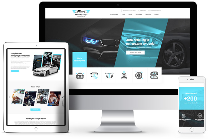 auto detailing, strony internetowe poznań