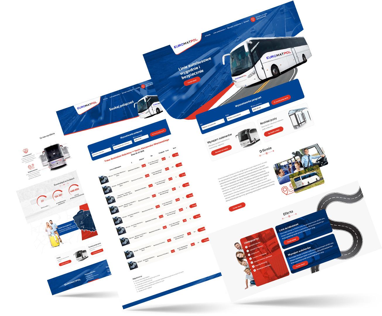 euromatpol, strony internetowe poznań, autokary