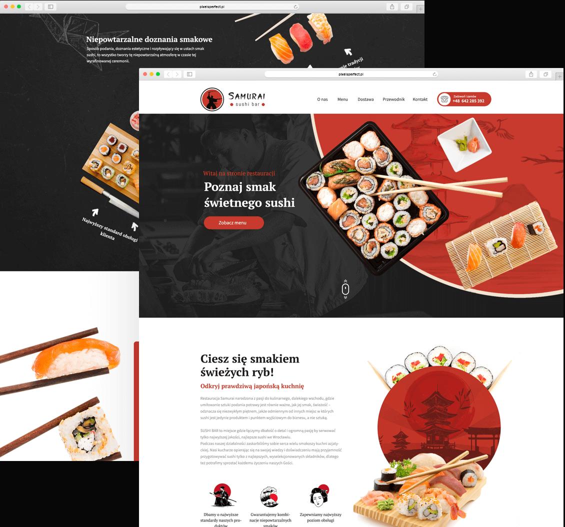 Samurai Sushi, strony internetowe poznań