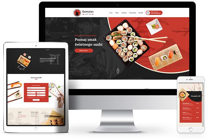 bar sushi, restauracja, nowoczesne strony poznań