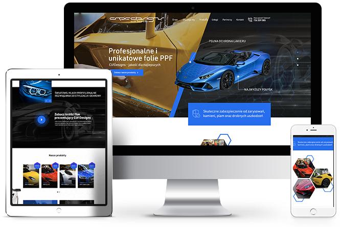 unikatowe folie PPF, strony internetowe Poznań